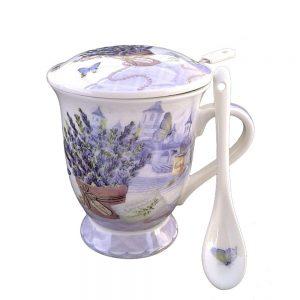 Cana ceai cu infuzor Pauline lavanda