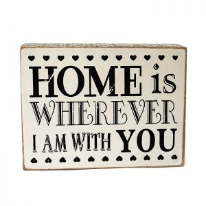 Mesaj motivational cub cu mesaj de dragoste Romance lemn vintage