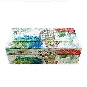 Cufar lemn Theodora 24x13x8.5cm shabby chic cutie depozitare