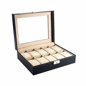 Cutie 10 ceasuri Edward caseta eleganta pentru ceasuri sau bratari