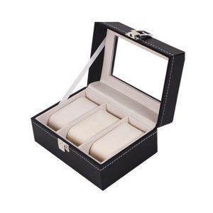Cutie 3 ceasuri bratari Elegance negru cadou aniversare