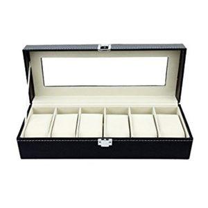 Cutie 6 ceasuri caseta eleganta bratari bijuterii ceasuri Elegance