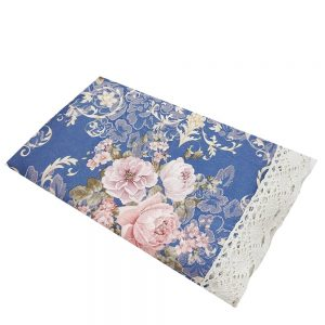 Fata de masa Romantic Blue 130x180cm brocart
