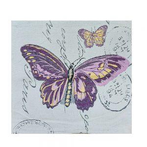 Fata de perna Purple Butterfly 45x45cm
