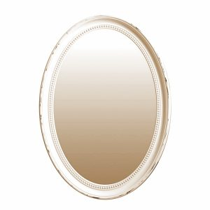 Oglinda ovala rama bej finisaj vintage oglinda perete Elegance 40x60cm