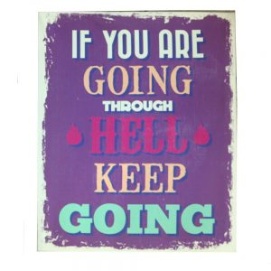 Tablou text Keep Going 45x55cm vintage