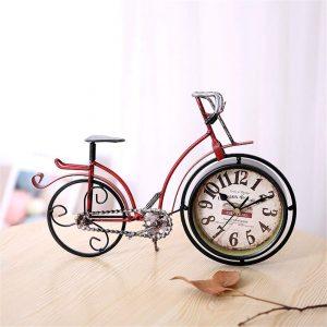 Ceas bicicleta metal vintage Tommy cifre arabe ceas de birou