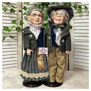 Papusi portelan cuplu Julia & Richard 40cm