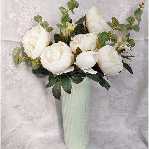 Buchet bujori albi Berenice vintage 45cm
