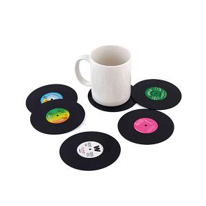 Suporturi pentru pahare cani set 6 coastere rotunde Old Vinyl