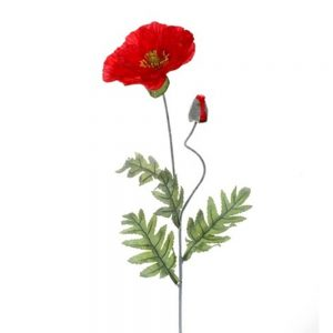 Fir maci rosii artificiali Red Poppy flori decorative elegante