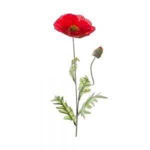 Fir mac artificial Poppy rosu 60cm