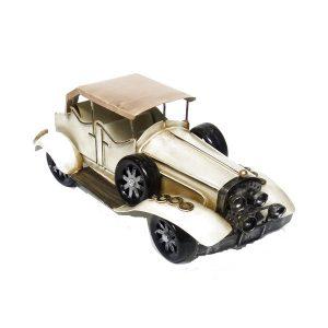Macheta metal vintage masina de epoca crem Antique 20x10x13cm