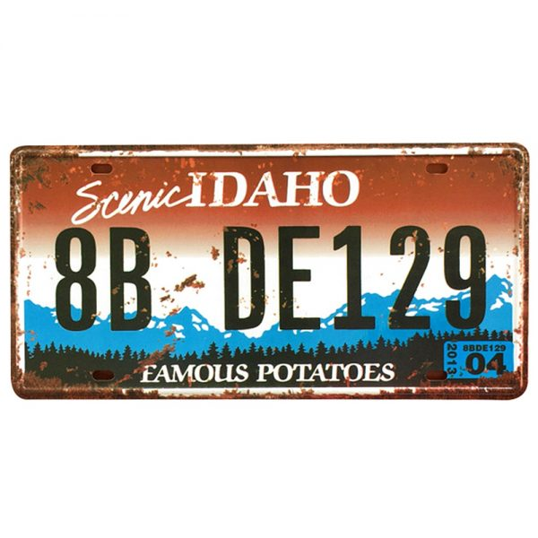 Placa metalica vintage Idaho numar auto