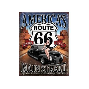Placa metalica America'S Route 66