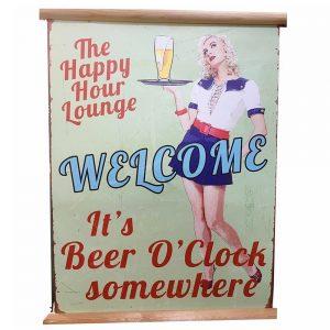 Poster vintage Beer O'Clock 30x40cm decoratiune perete
