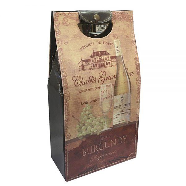 Cutie suport pentru 2 sticle Toscany