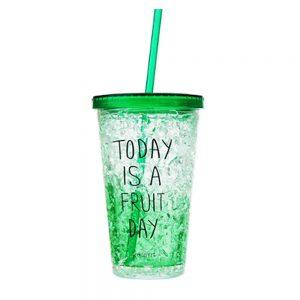 Pahar cu pai Summer pahar plastic cu gel racire congelator