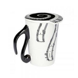 Cana note muzicale Opera cana capac ceramica ceai cafea capuccino