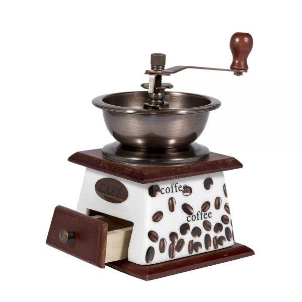 Rasnita artizanala Coffee Time ceramica vintage