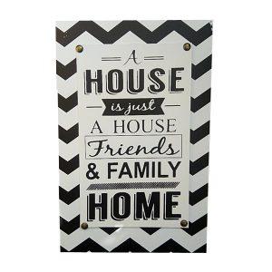 Tablou cu mesaj motivational Home alb-negru cadou casatorie