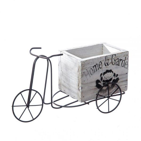 Bicicleta vintage pentru flori Silvia suport lemn ghivece flori