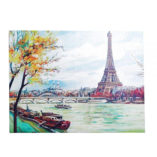 Tablou Tour Eiffel & La Seine canvas 40x30cm