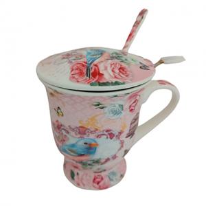 Cana portelan Heather pasare, Set pentru ceai