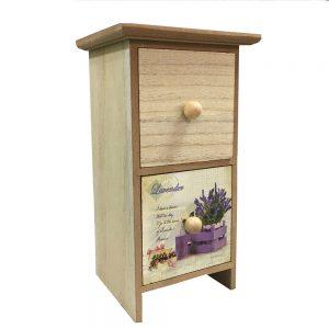 Cutie bijuterii 2 sertare Lavender lemn