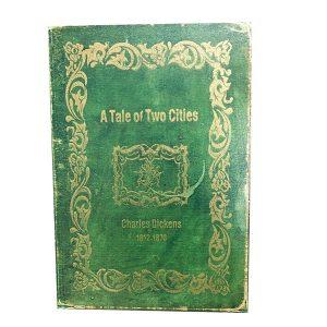 Cutie carte vintage Pauline 25x6x18cm lemn caseta depozitare