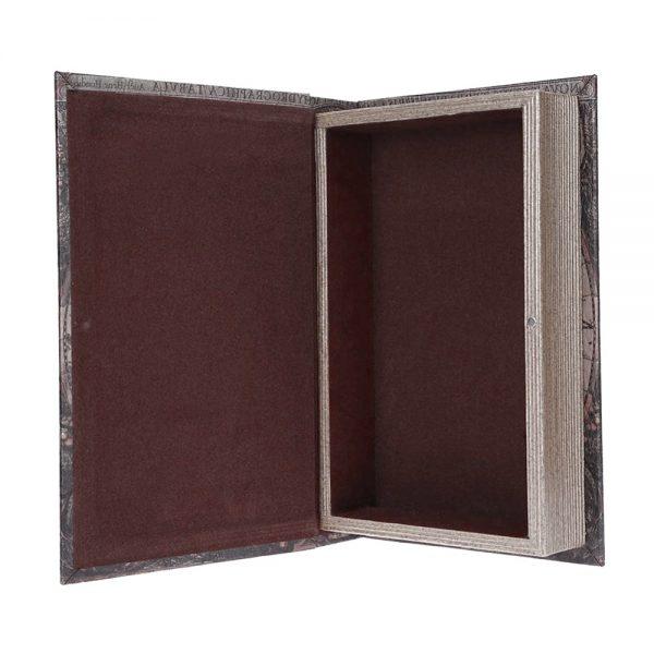 Cutie tip carte lemn vintage caseta bijuterii poze documente Patrick XL