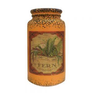 Vaza ceramica Antique portocaliu vintage 22cm