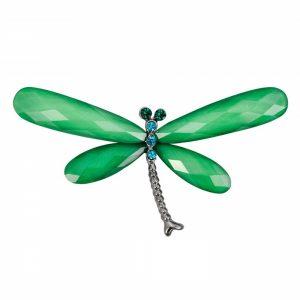 Brosa libelula cu strasuri colorate Margaret accesoriu elegant