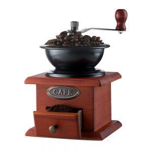Rasnita artizanala Cafe lemn vintage 11.5x17.5cm