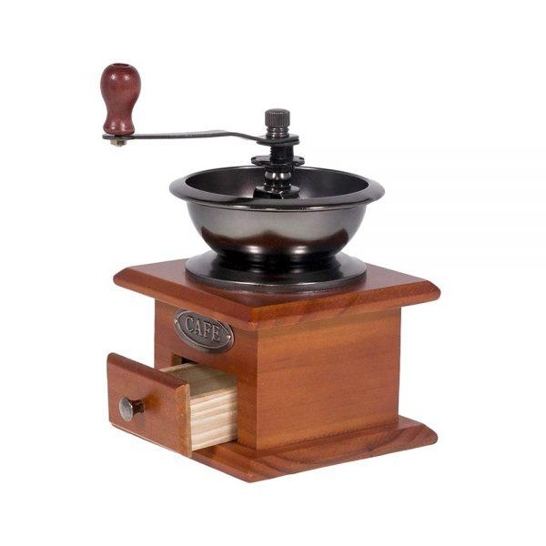 Rasnita de cafea rasnita vintage pentru condimente Coffee Time lemn