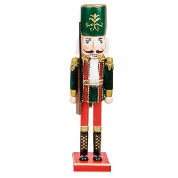 Spargator de nuci decorativ Ben Nutcracker 38cm figurina lemn