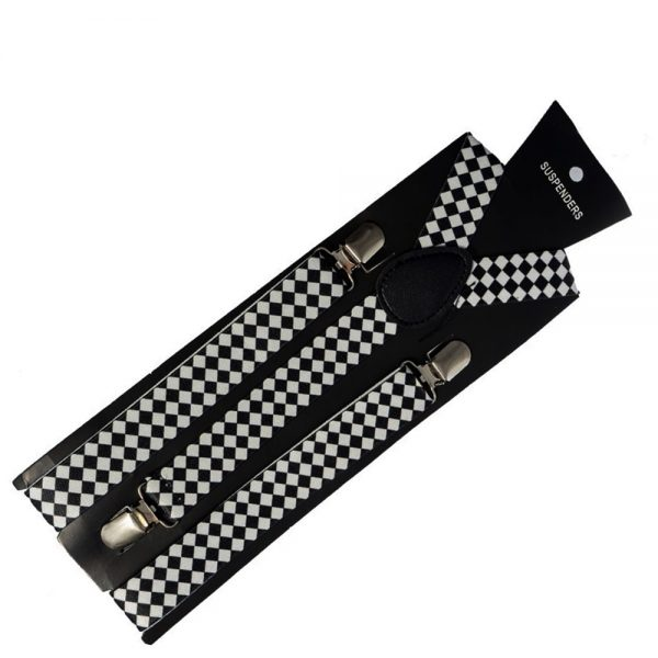 Bretele extensibile colorate bretele unisex alb negru Casual
