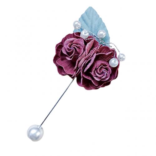 Brosa floare Carmen ac de palarie