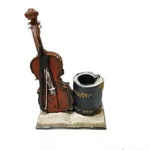 Suport pixuri creioane Armand vintage decor birou cu vioara