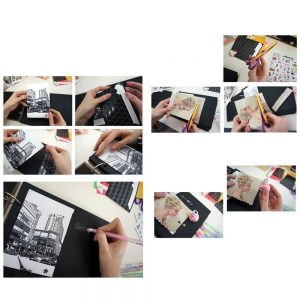 Album foto Memories 19x19cm scrapbook kit DIY vintage