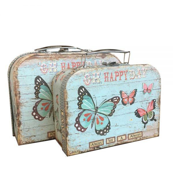 Cutie cadou Happy Set 2 valize vintage