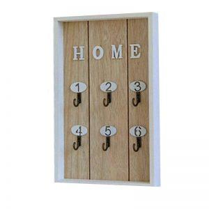 Cuier chei Sweet Home lemn vintage 20x30cm suport 6 carlige