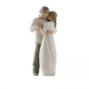 Figurina decorativa cuplu dansand Promise 22cm statueta rasina