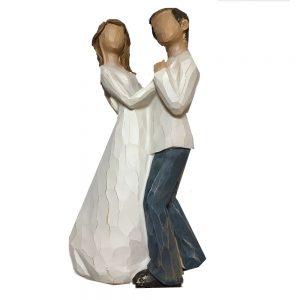 Figurina decorativa cuplu dansand Confidence 21cm statueta rasina