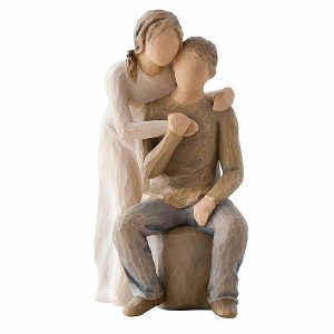 Figurina decorativa cuplu indragostiti Kindness 15cm statueta rasina