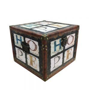 Cufar lemn Hope 28x28x22cm vintage