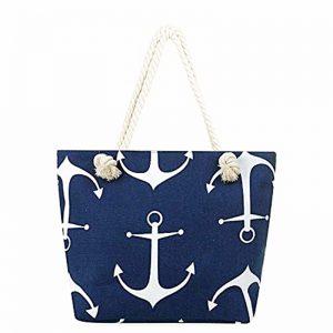 Geanta plaja Nautic geanta de vara din panza cu bretele