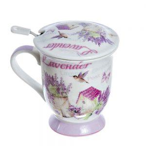 Cana ceai cu infuzor Berenice lavanda