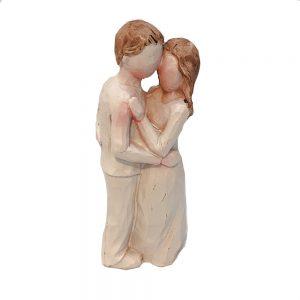 Figurina decorativa cuplu indragostiti Tenderness 9cm statueta rasina