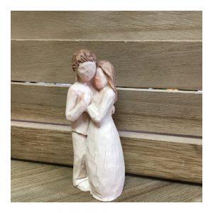 Statueta cuplu indragostiti Loving rasina 9cm